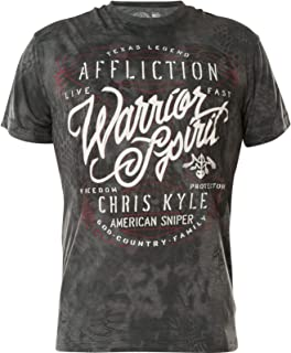 Affliction Chris Kyle Overwatch Tee L Heather Grey