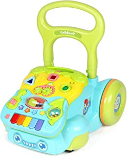 Newest Child Walker Height Adjustable for 1 2 3 Year Old Boys Girls, 2-In-1 Child Sliding Car with Music And Large Storage...