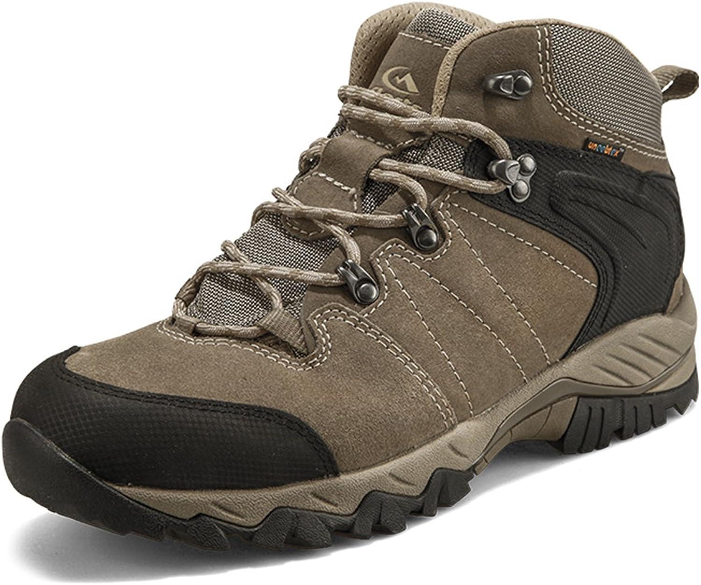 Clorts Men's Outdoor Suede Leather Waterproof Hiking Boots