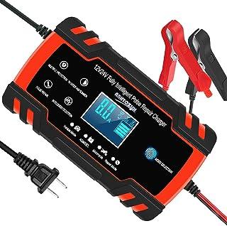 Cargador de batería automotriz 12V / 8A 24V / 4A Cargador automático inteligente Cargador de batería automático para autom...
