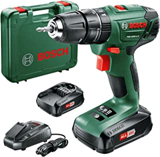 Sponsored Ad – Bosch PSB 1800 LI-2 cordless combi drill (2 x batteries, 18V system, in case)