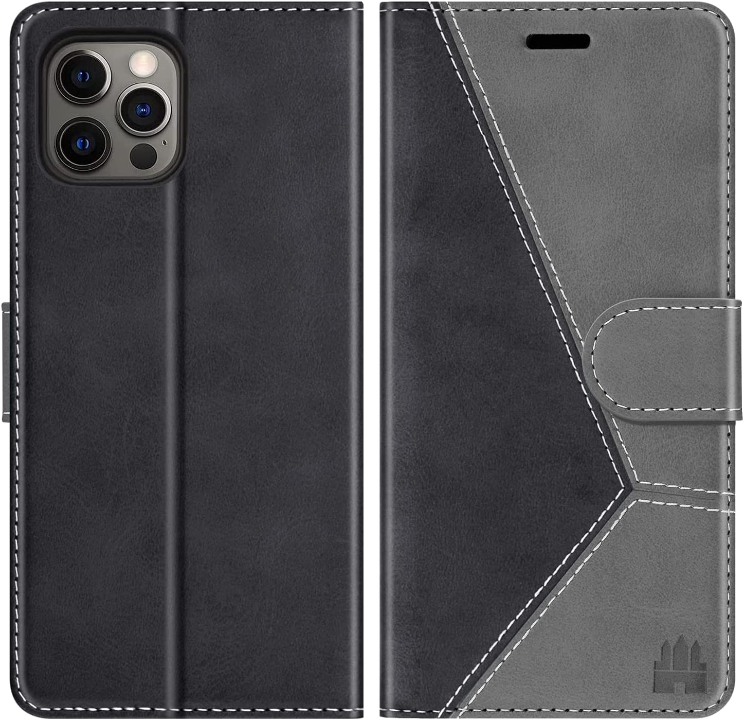 Caislean Compatible with iPhone 12 Pro Max Wallet Case (6.7