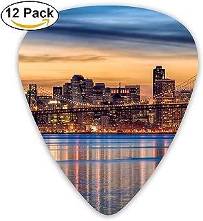 HaSaKa San Francisco Sunset Bridge River Guitar Pick 0.46mm 0.73mm 0.96mm 12pack,Suitable For All Kinds Of Guitars
