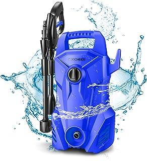 COOCHEER 高圧洗浄機 1400W 最大吐出圧力 10.5MPa 【改良進化版】水道直結・自吸両用 50Hz/60Hz東西日本兼用 キット付き 高圧ホース10m 水道ホース3m 電源コード5m 小型 軽量6.5kg IPX5防水