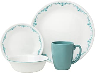 Corelle 16 Piece Garden Lace Livingware Dinnerware Set, White
