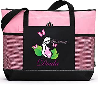 Personalized Doula Tote Bag, Available in 7 colors