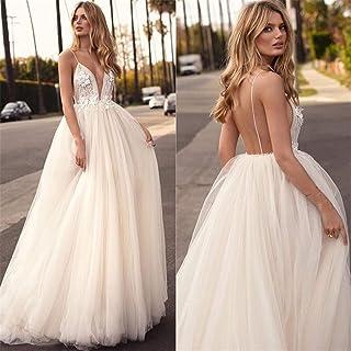 Wedding Dress Gown Evening Dress Satin Lace Jewel Lace V Back Sexy Chapel Women Sweetheart Bride Bridal XS