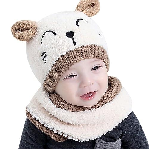79f108a3f54 Bonnet et Écharpe bébé enfant fille garçon 1-3 ans