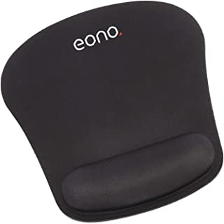 [Amazonブランド] Eono(イオーノ) - マウスパッド リストレスト一体型 手首クッション マウスパッド 疲労軽減 人間工学 滑り止め 防水 耐久性 水洗い ゲーム 仕事用 - ブラック