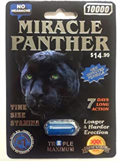MIRACLE PANTHER 10000 Triple 7 DAYS Max Male Sexual Enhancement 24 Pills