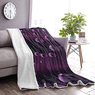 """ASYOURWISH 毛布 ニット ブランケット Purple Black Hubble-Bubble Abstract POP 北欧 掛け毛布 大判 防寒 かわいい ひざ掛け プレゼント 通年使用 暖かい 肩掛け 防寒 フリンジ付き 50""""x40"""