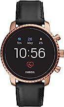 Fossil Men's Gen 4 Explorist HR Stainless Steel Touchscreen Smartwatch with Heart Rate, GPS, NFC, and Smartphone Notificat...