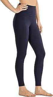 comprar comparacion CRZ YOGA Mujer Naked Feeling Deportivos 7/8 Leggings Yoga Fitness Pantalon de Cintura Alta con Bolsillos-63cm