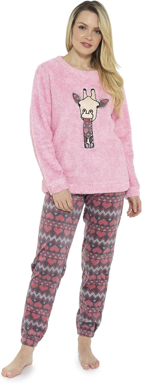 Pijama de Pijamas cómodos Pijamas Snuggle Pijamas cálidos Pijama Twosie Set | Desgaste de Lujo del salón Suave para Las Mujeres para Las Mujeres