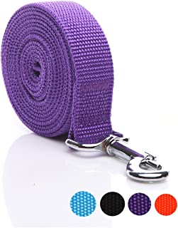 SALO Durable Nylon Dog Leash 16 Feet Long, Walking Training Dog Leashes for Medium Large Dogs, 1 Inch Wide (Purple)