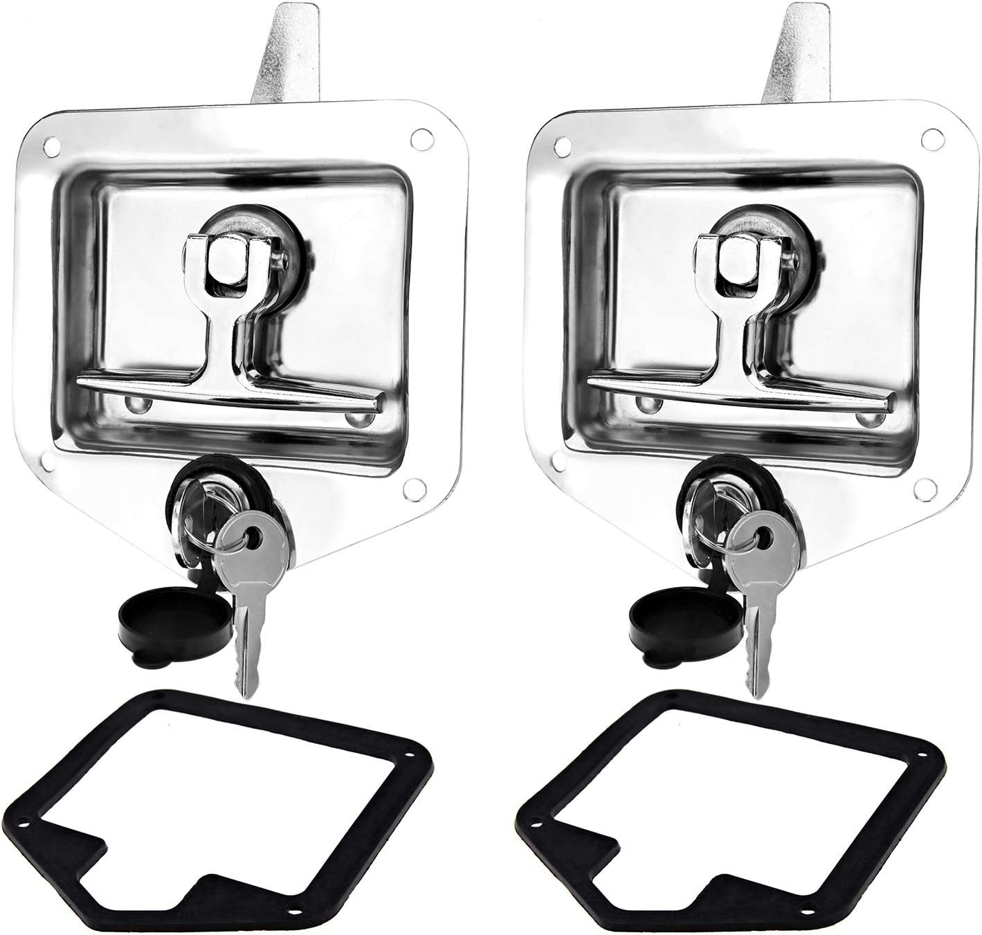 Creative-Idea 2Set T Very popular Handle Cam Latch L Lock with Dealing full price reduction Holes Mounting