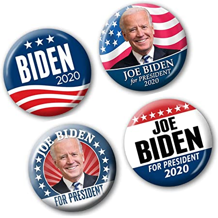 5-Pack Modern Campaign Pins 2.25 Inch Designs 7230 Joe Biden Kamala Harris 2020 Buttons