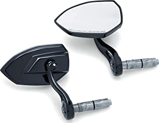 Kuryakyn 1959 Motorcycle Handlebar Accessory: Phantom Bar End Rear View Side Mirrors, Universal Fit for Motorcycles with 1
