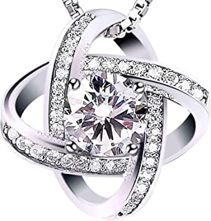 Swarovski Elements 925 Sterling Silver Pendant Necklace for Female Girlfriend Jewelry 616