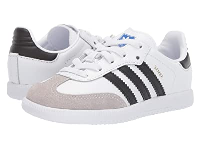 adidas Originals Kids Samba OG EL I (Toddler) (White/Black) Kids Shoes
