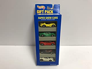 SUPER SHOW CARS 1995 Mattel Hot Wheels Gift Pack 13502 diecast 1/64 scale with Viper Jaguar Audi Mercedes