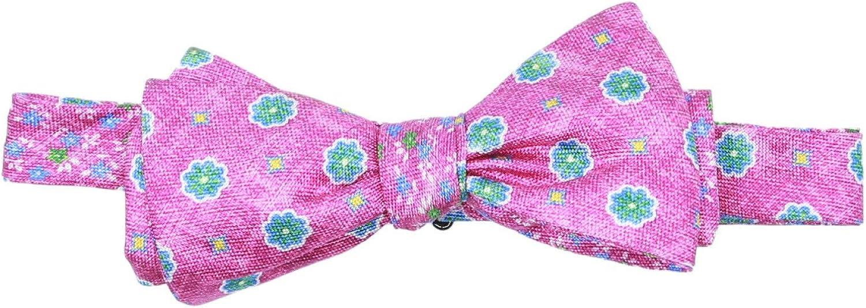 Edward Armah Men's Luke Floral Square Silk Bow Tie