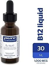 Pure Encapsulations - B12 Liquid - 1,000 mcg Vitamin B12 (Methylcobalamin) Liquid for Nerve Health and Cognitive Function* - 30 ml