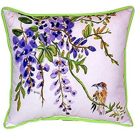 Betsy Drake Wisteria Bird Indoor Outdoor Pillow 20 X 24 Home Kitchen