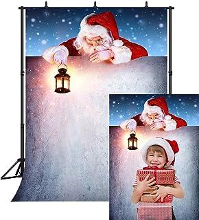 DePhoto Fotohintergrund 'Merry Christmas Santa Claus', 1,8 x 2,7 m, nahtlos, Vinyl