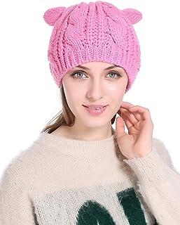 I wish Winter Warm Hat Cat Ear Crochet Braided Knit Caps