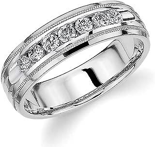 Men's .50ct Grooved Milgrain Diamond Ring in 10K Gold