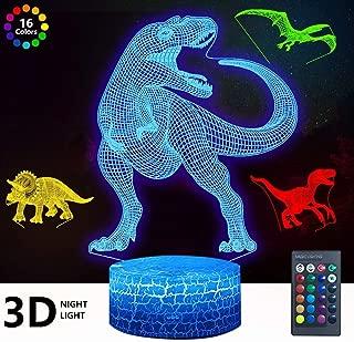 3D Dinosaur Night Light, DDDNIGHTLIGHT 4 Patterns Led...