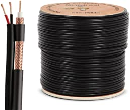 RG59 Siamese Coaxial Cable 500ft - CCTV Wire for Security Camera - Combo Video & Power Cable - 20AWG