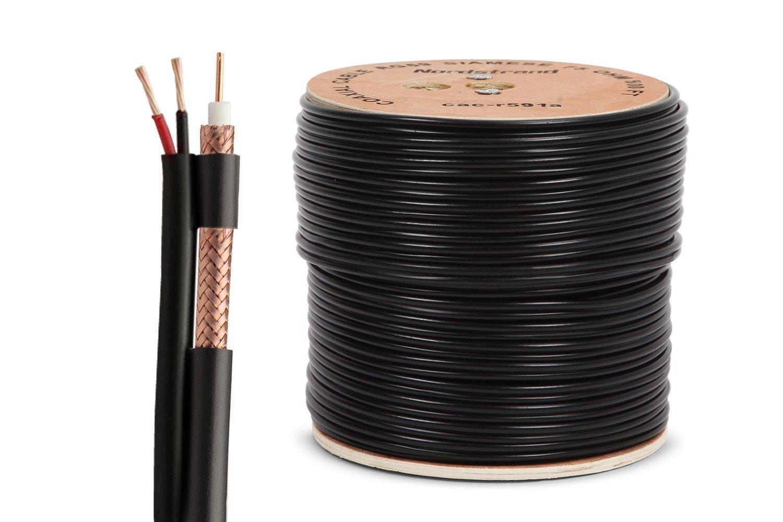 Nordstrand 500 M Cable Coaxial RG59 Siameses Cable para CCTV ...