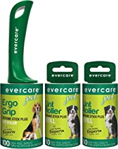 Evercare Pet Hair Extra Sticky Lint Roller with 2 Refills, New Ergo Grip, 220 Total Sheets (220 Sheets) (220 Sheets)