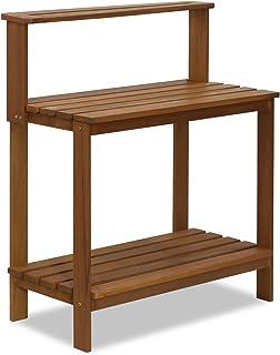 Furinno FG17478 Tioman Outdoor Patio Furniture Hardwood Potting Bench, Natural