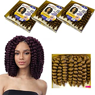 Fluffy Wand Curl FreeTress Crochet Synthetic Braiding Hair Shake N Go (3 packs) (1B)