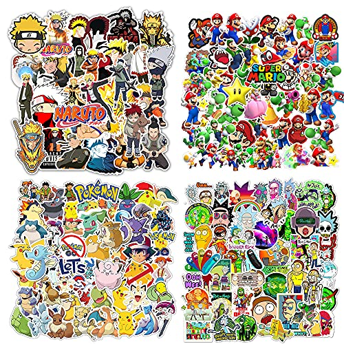 200 Piezas de Pegatinas de Anime, Pegatinas Populares para portátiles, Botellas de Agua, Estuches para Teléfonos, Pegatinas para Portátiles, Parachoques, Botellas de Agua, Ordenadores, Cascos