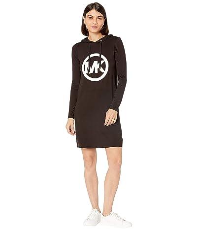 MICHAEL Michael Kors Petite Long Sleeve Circle MK Logo Hoodie Dress Women