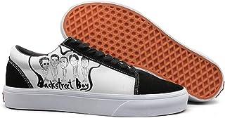 Wardell Backstreet-Boys-Logo- Womens Casual Sneakers Shoes Skateboard Slip on Low Top
