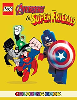 Lego Avengers and Superfriends Coloring Book: 2 in 1 Coloring Book for Kids and Adults, Activity Book, Great Starter Book for Children with Fun, Easy, and Relaxing Coloring Pages