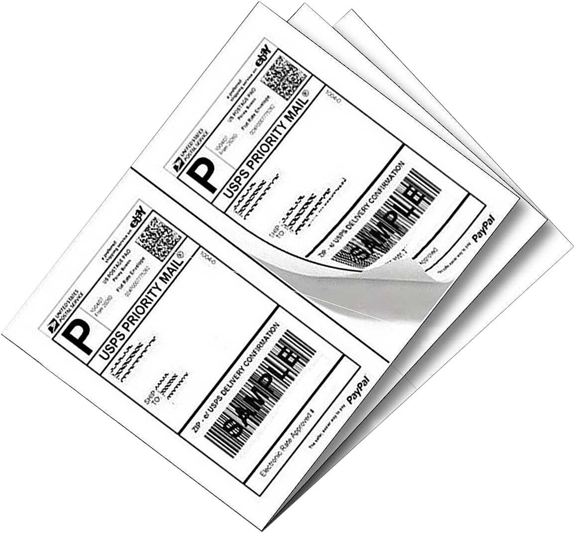 """SJPACK 1000 Half Sheet Self Adhesive Shipping Labels 8.5"""" x 5.5"""" Address Labels for Laser & Inkjet Printers : Office Products"""
