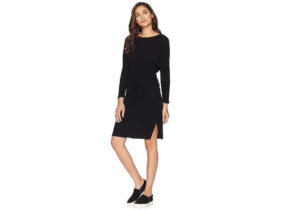 Cupcakes and Cashmere Jenilee Rib Knit Sweater Dress (Black) Women