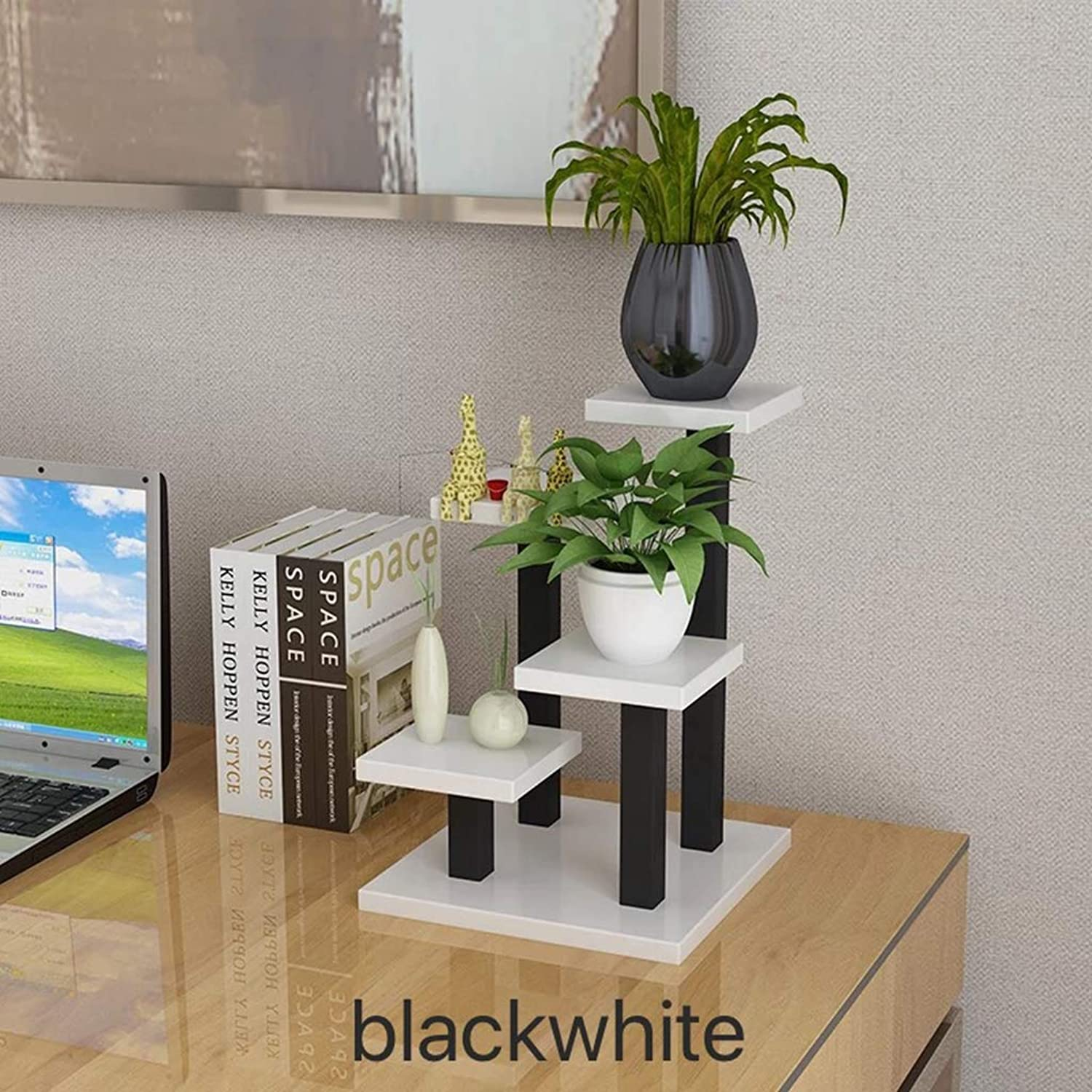 Function Multi-Layer Stand Small Flower Simple Creative Mini Desk Office Surface Plants Fleshy Staircase Decoration,B