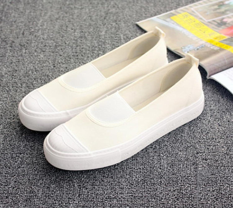 XUEXIN Canvas women's flat heel black foot tides leisure low lazy summer girls shoes
