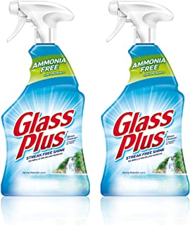 Glass Plus Glass Cleaner, 32 fl oz Bottle, Multi-Surface Glass Cleaner (Pack of 2)