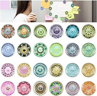 DECARETA 24 Pièces Aimants de Réfrigérateur Style Vintage Magnets pour Réfrigérateur 3D Aimants de Bureau Motif de Mandala...