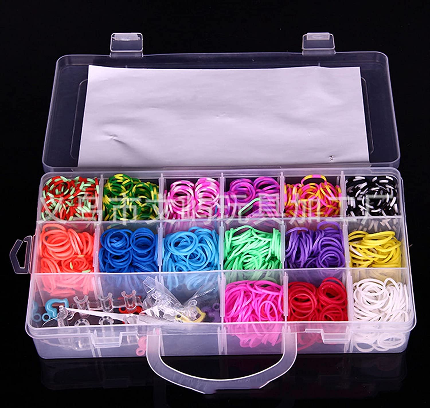HWYJ Rubber Band Limited time Super-cheap sale Bracelet 2000Rubber Elasti Loom Weave Box Bands