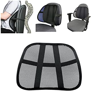 Lumbar Support Cool Vent Cushion Mesh Back Lumbar Support New Pillow for Car Office Chair Truck Seat Black