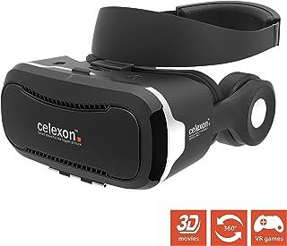 Gafas VR celexon Expert - Gafas 3D realidad virtual VRG 3 con auriculares, Smartphone 3,5